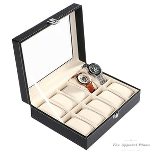 10 Slot Leather Watch Organizer