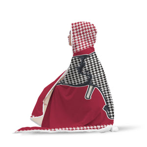Houndstooth Hooded Blankets
