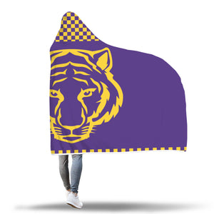 Tigers Purple Hooded Blankets