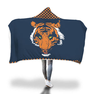 Tigers Blue Hooded Blankets