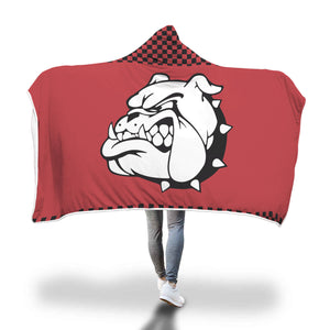 Bulldogs Red Hooded Blankets