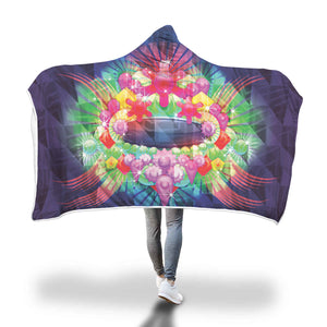 Beautiful Purple Crush Hooded Blankets