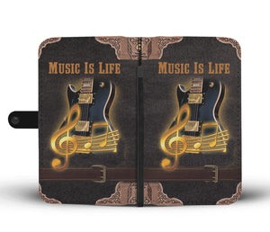 Music Is Life Cell Phone Wallet Case