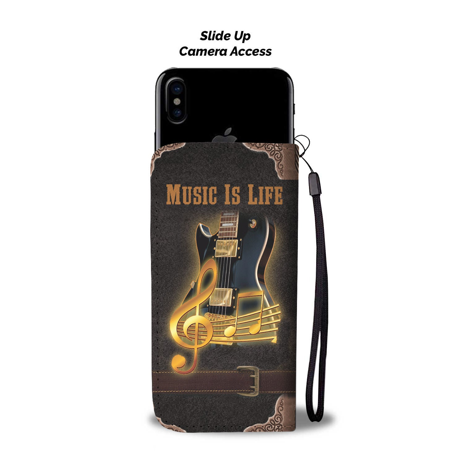 the latest e6a62 adb19 Music Is Life Cell Phone Wallet Case