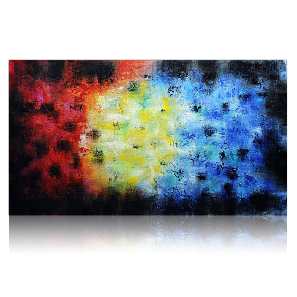 Abstract Wall Art Handpainted Abstract Wall Art Canvas  Ready To Hang  The Apparel