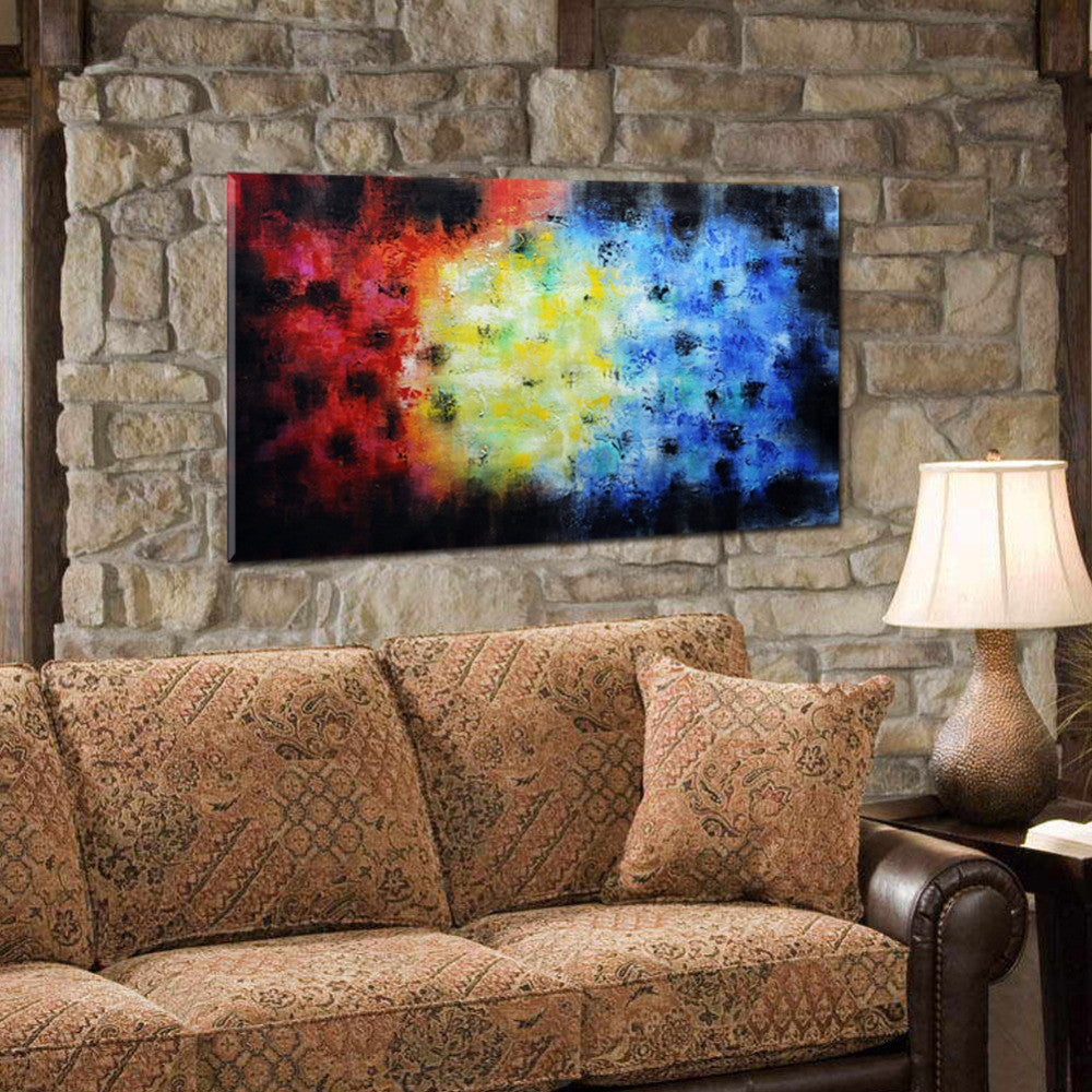 Handpainted Abstract Wall Art Canvas   Ready To Hang