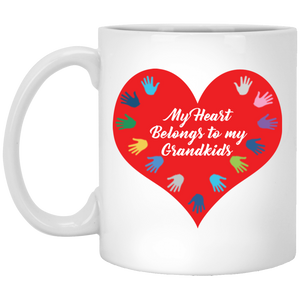 My Heart Belongs to my Grandkids Mug