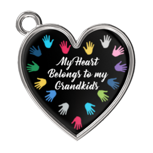My Heart Belongs To My Grandkids Bracelet