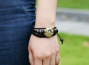 Handmade Genuine Leather Pisces Bracelet