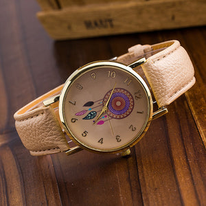 Dream Catcher Watch with Leather Band