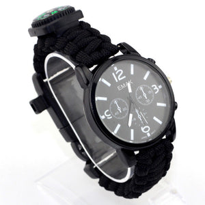 Waterproof Paracord Survival Watch with Compass