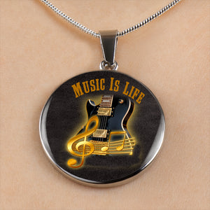 Music Is Life Pendant and Necklace Set