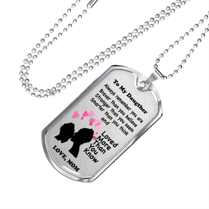Love Mom Chain and Tag Set