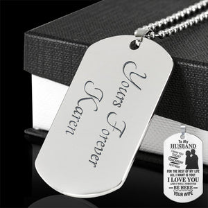 Engraved - To My Husband Necklace