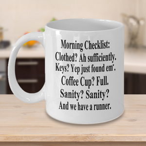 Morning Checklist Mug