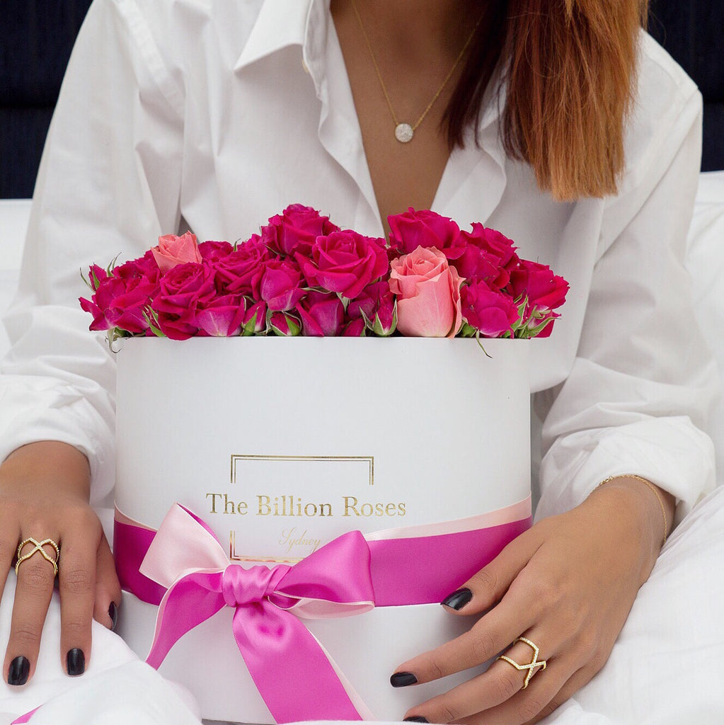 Fresh roses with the billionaire touch!