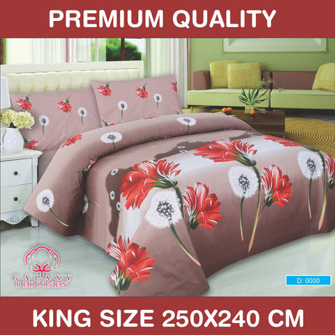 Galaxy Luxury Rotary Bed Linen Bed Sheet & Pillow Set -0096 - klashcollection
