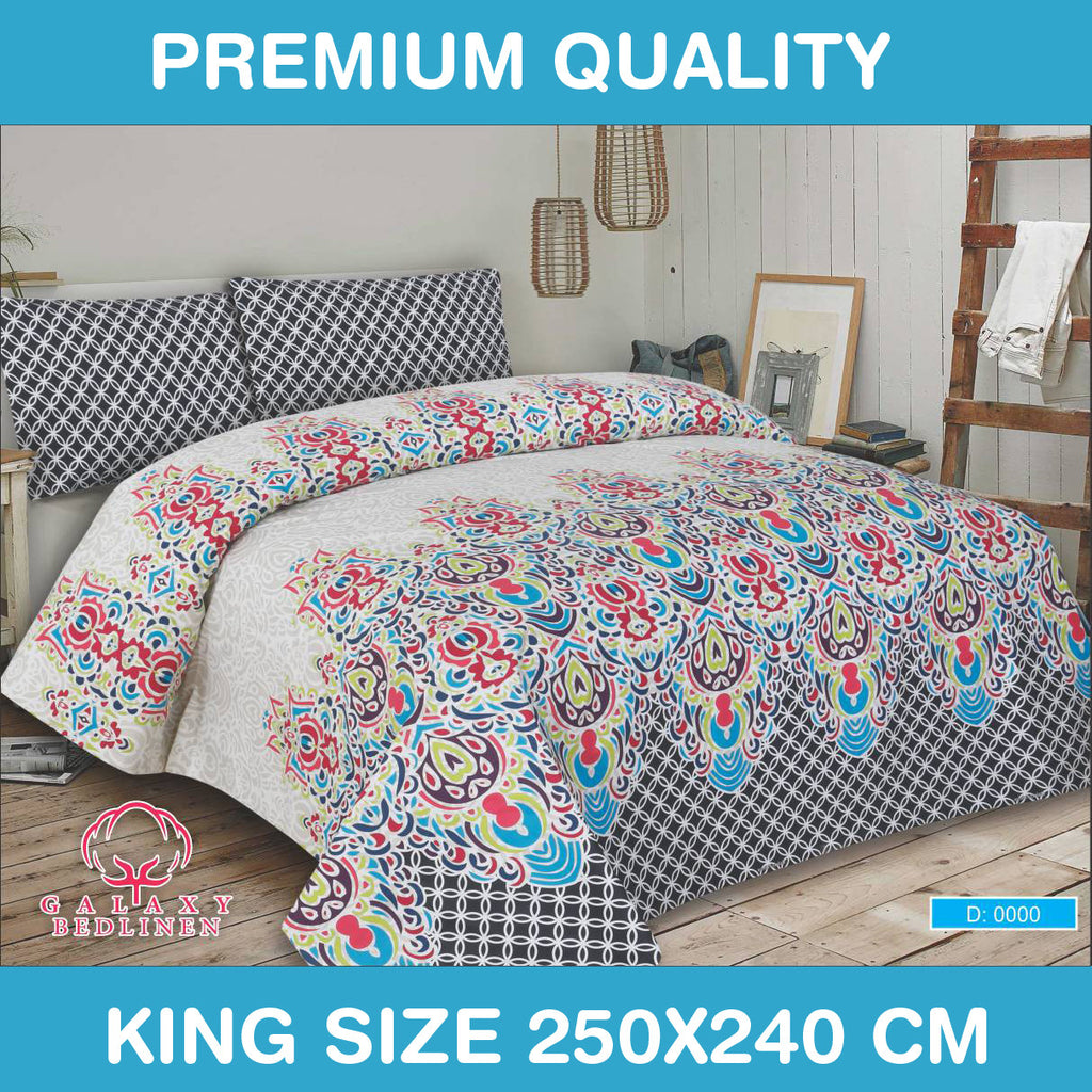 Galaxy Luxury Rotary Bed Linen Bed Sheet & Pillow Set -0097 - klashcollection