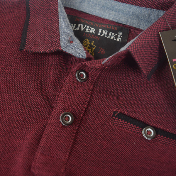 Kids Oliver Duke Two tone Short sleeve Polo Shirt - Maroon - klashcollection - 2