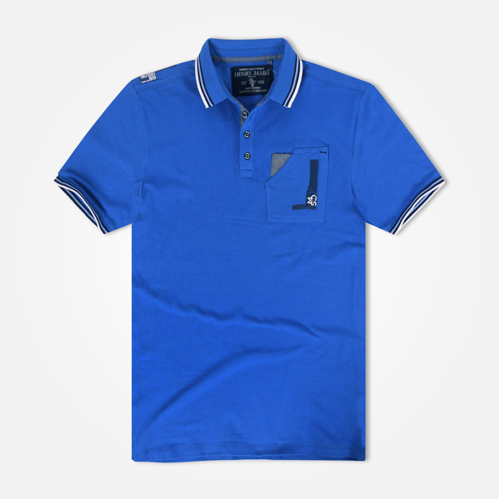 Men's Henry James Crooker Tipped Collar Pocket Polo Shirt - klashcollection - 1