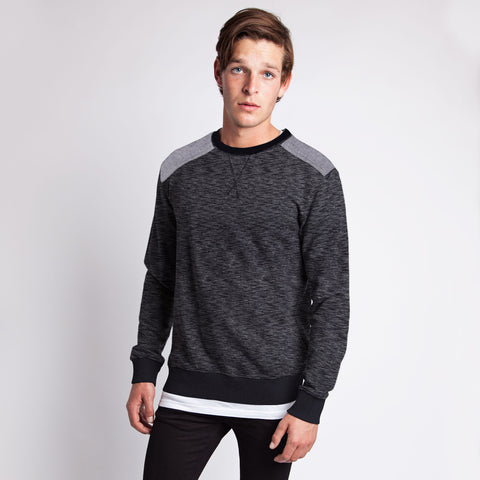 Men's Henry James Long Sleeve Sweatshirt - Textured Navy