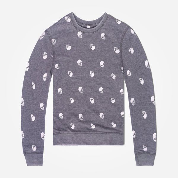 Kids Oliver Duke Rotary Printed Pigment dyed sweat - Dark Grey - klashcollection - 1