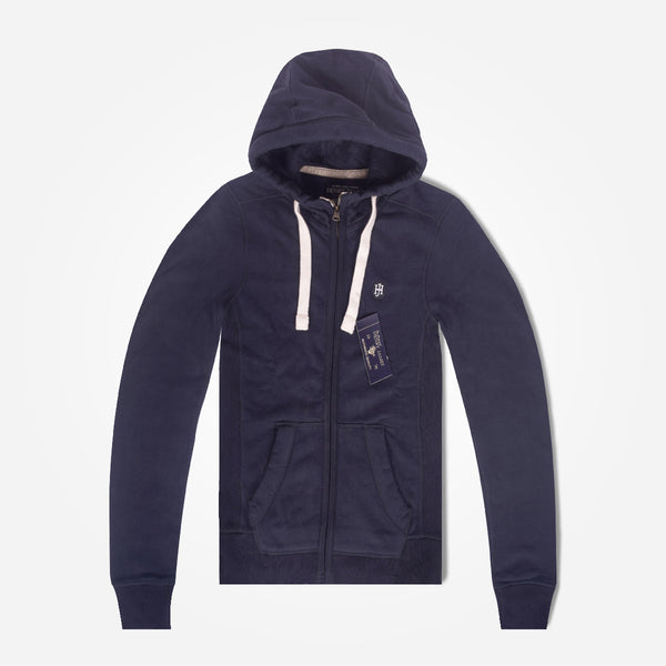 Men's Henry James HOGAN Zipper Hoodie - Washed Navy - klashcollection - 1