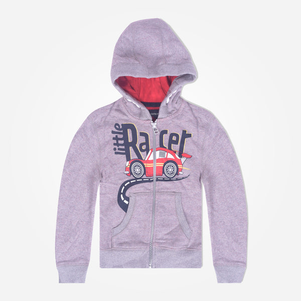 Copy of Kids Oliver Duke LITTLE RACER Zip Through Hooded - Grey Marl - klashcollection - 2
