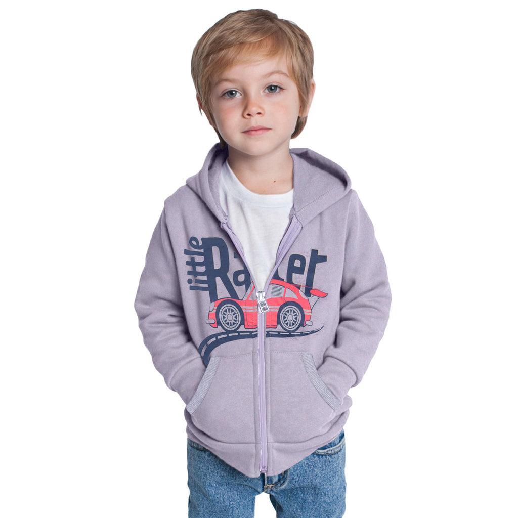 Copy of Kids Oliver Duke LITTLE RACER Zip Through Hooded - Grey Marl - klashcollection - 1