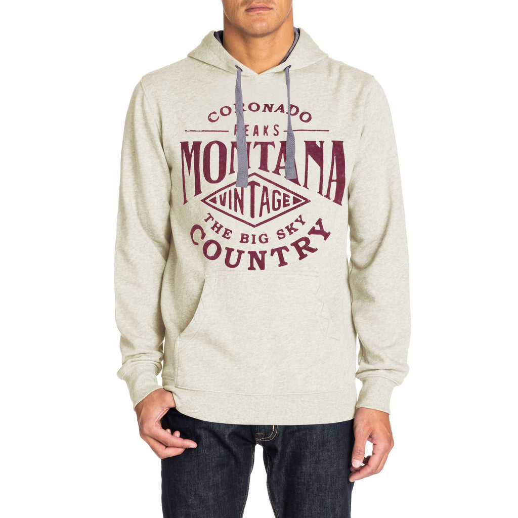 Men's Henry James MONTANA Pull Over Graphic Hoodie - Offwhite Marl - klashcollection - 1