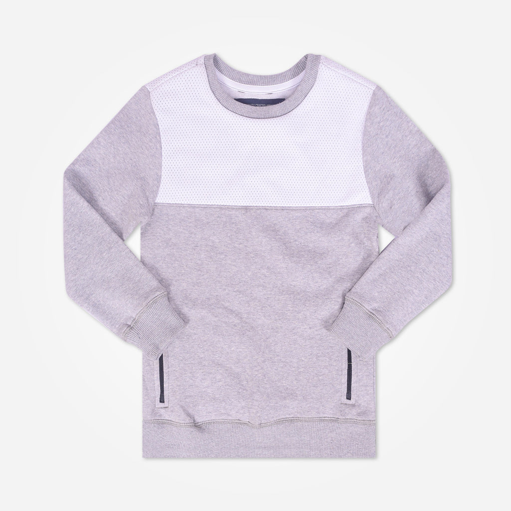 Kid's Oliver Duke Long sleeve sweat with side zipped Pockets - Grey - klashcollection - 1
