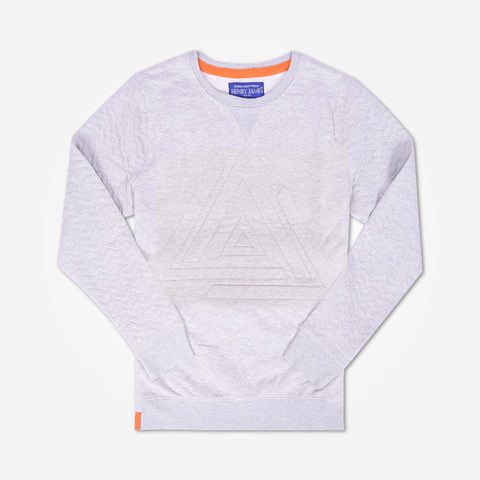Kid's Henry James Sweatshirt with qulted sleeves - Grey - klashcollection - 1