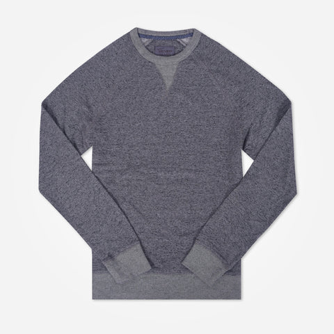 Men's Henry James Raglan sleeve crew neck Sweatshirt - Navy/Grey - klashcollection - 1