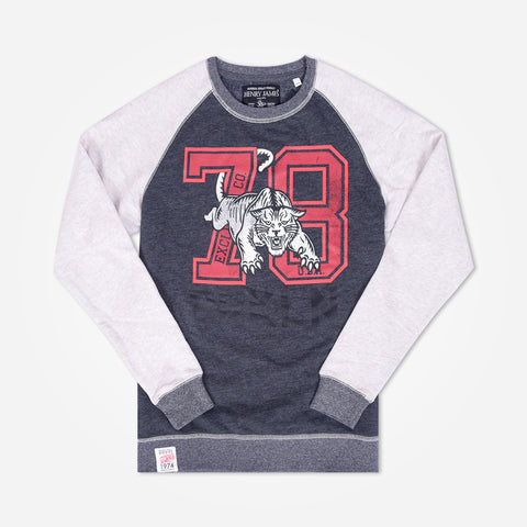 "Men's Henry James Raglan sleeve Graphic Sweatshirt ""78"" - klashcollection - 1"