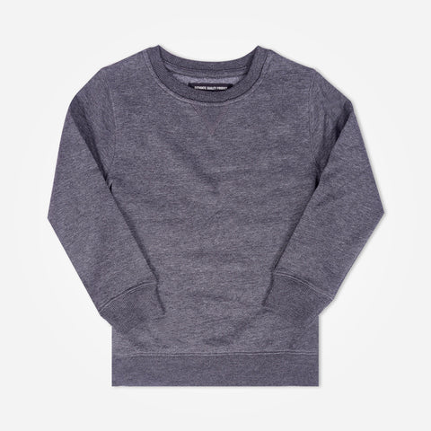 Kid's Henry James crew neck sweatshirt - Charcoal - klashcollection - 1