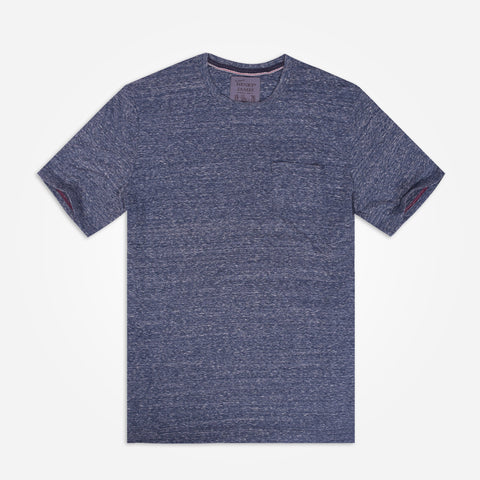 Men's Henry James Slub Navy Pocket Tee Shirt