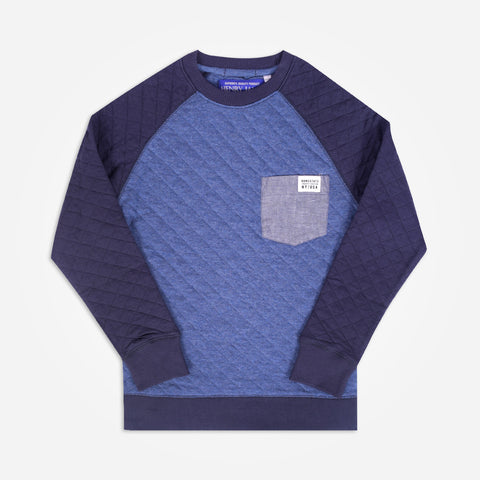 Kid's Henry James Raglan sleeve quilted Sweatshirt - klashcollection - 1