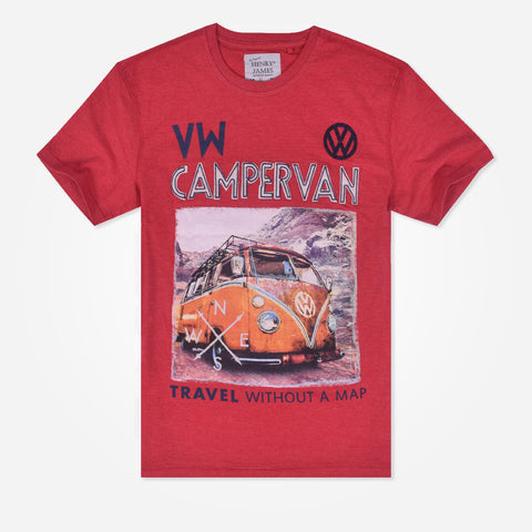 "Men's Henry James ""CAMPERVAN"" printed Graphic tee"