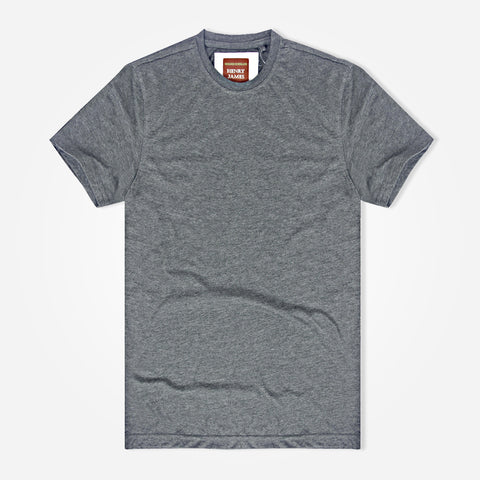 Men's Henry James Crew Neck T-Shirt - Grey