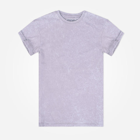 Men's Henry James stone washed Crew neck T-Shirt - L Grey