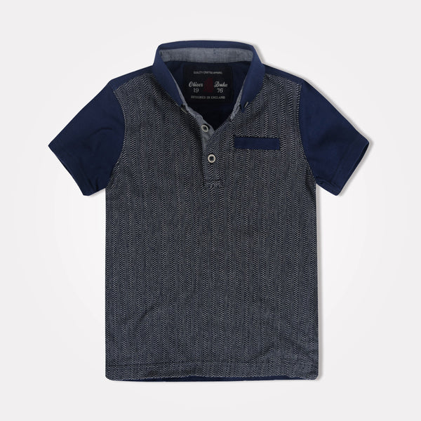 Kids Oliver Duke Contrast Sleeve Grindle Polo Shirt - klashcollection - 1