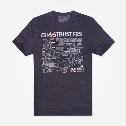 Men's Henry James Crew Neck Ghost busters Graphic T-Shirt