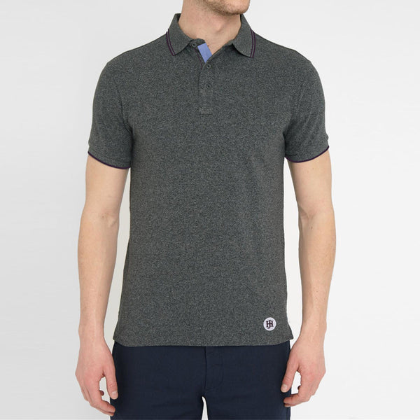 Men's Henry James Twin Tipped Textured Polo Shirt - klashcollection - 1