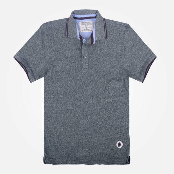 Men's Henry James Twin Tipped Textured Polo Shirt - klashcollection - 2
