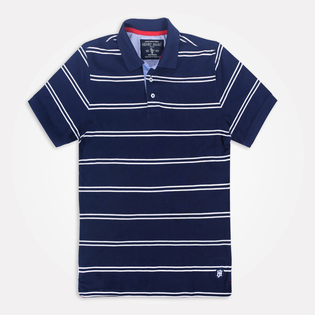 Men's Henry James Twin Striped Polo Shirt - klashcollection - 1