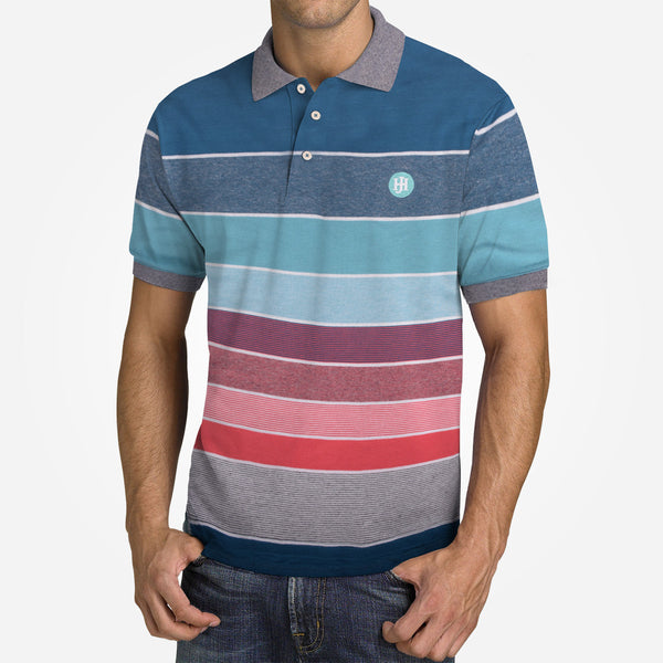 Men's Henry James Colored Block Striped Signature Polo Shirt - klashcollection - 1