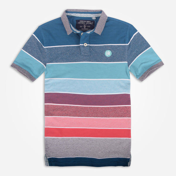 Men's Henry James Colored Block Striped Signature Polo Shirt - klashcollection - 2