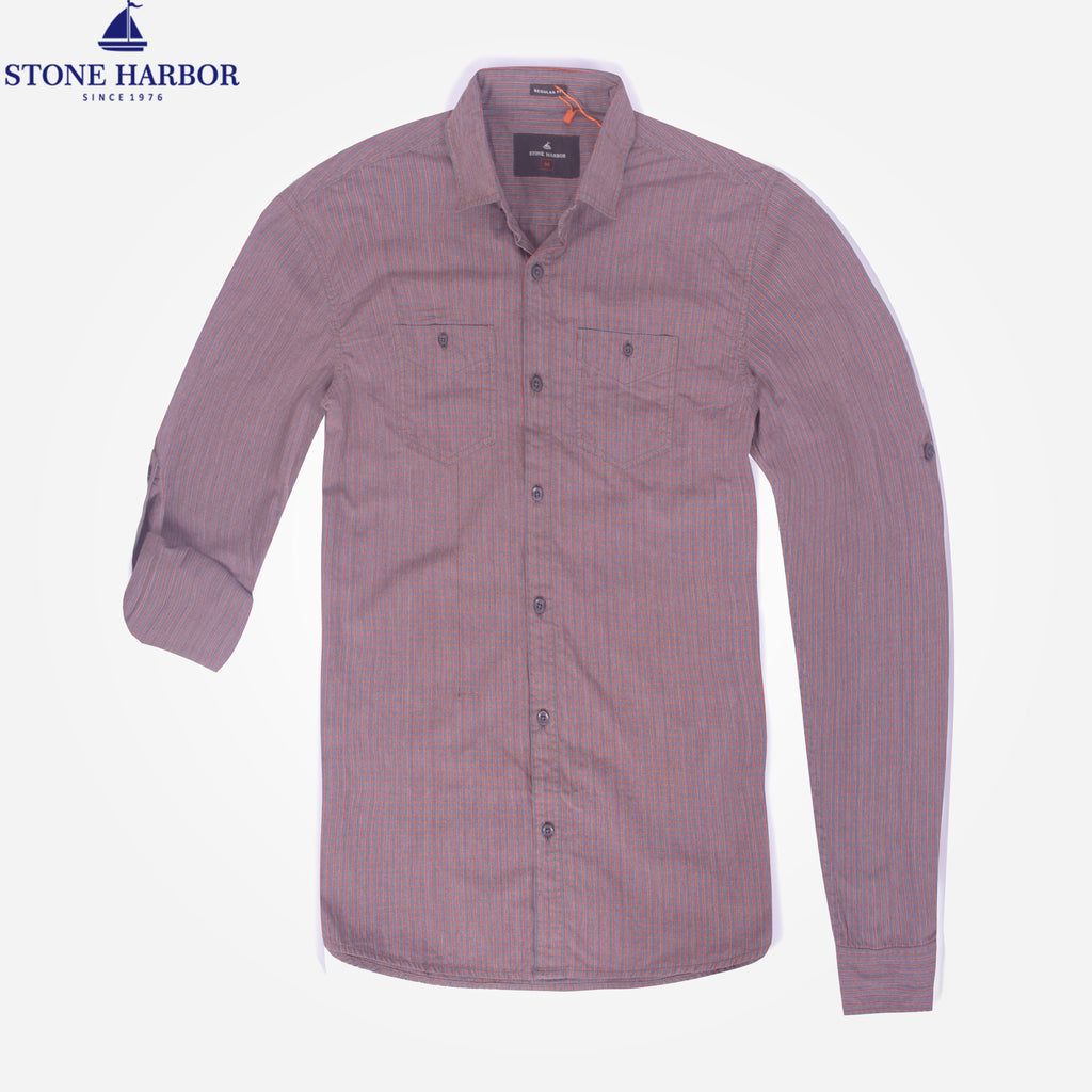 Men's Stone Harbor Thin check casual shirt - klashcollection - 1