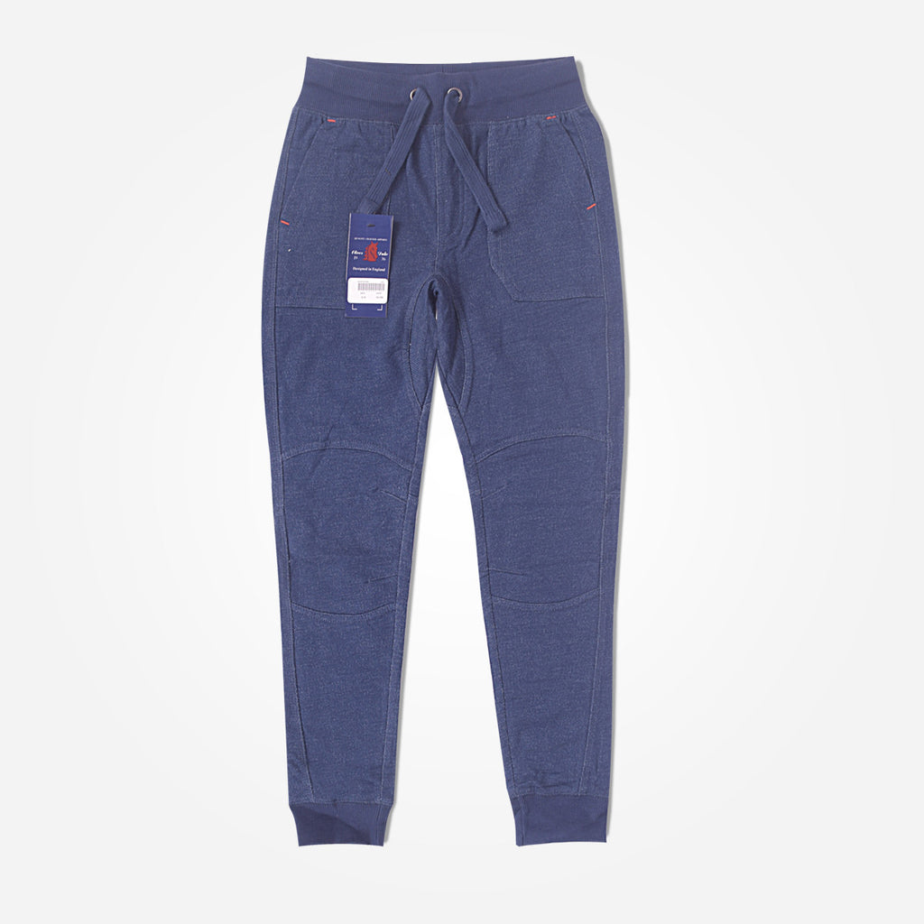Copy of Kids Oliver Duke Indigo Cut & sew panels jogger - Indigo - klashcollection - 1