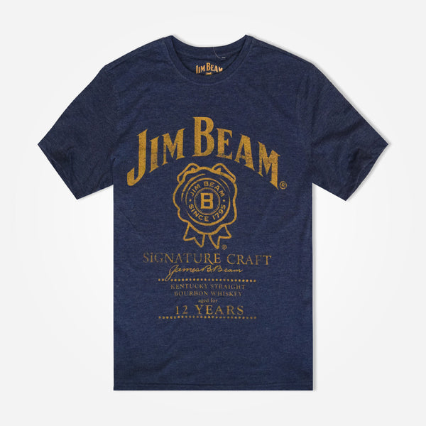 Men's Henry James JIM BEAM Graphic T-Shirt - Denim Blue